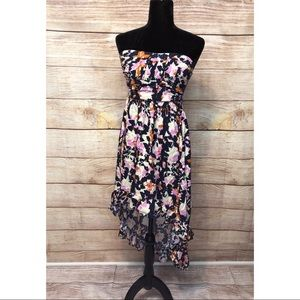 Mimi Chica Floral Hi Low Dress